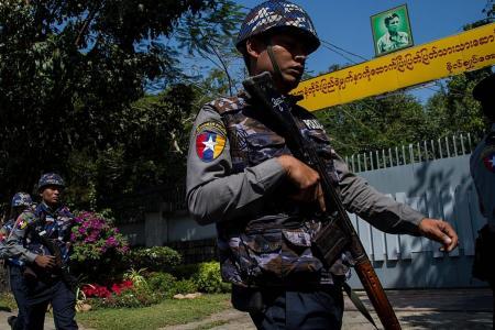 Petrol bomb thrown at Suu Kyi's Yangon home