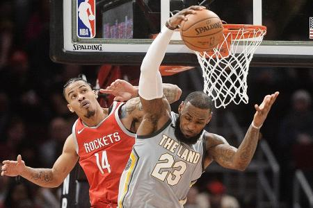 Revved-up Rockets rout cagey Cavaliers