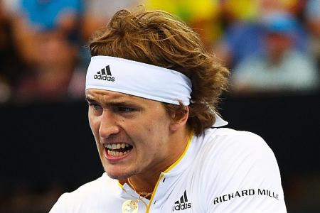 Zverev beats Kyrgios to help Germany advance in Davis Cup