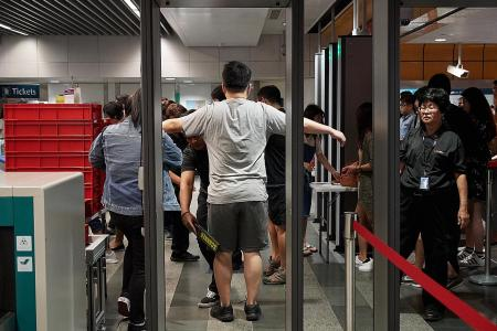 Newton MRT station holds biggest security screening exercise