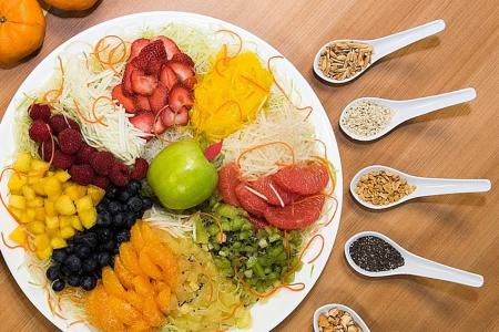 Toss out diabetes and more with fruity yusheng