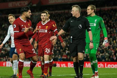 Moss admits mistake in asking for TV help in Liverpool-Tottenham game