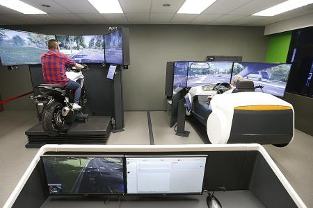 Driving simulators in ComfortDelGro Driving Centre promote road safety