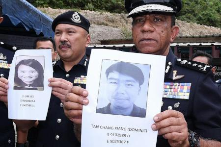 Singaporean hikers still missing in Johor mountain