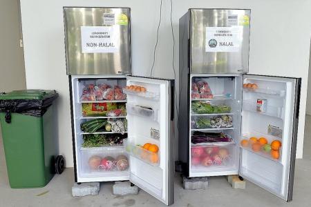 Fridges stocked with free food warm Yishun South residents' hearts