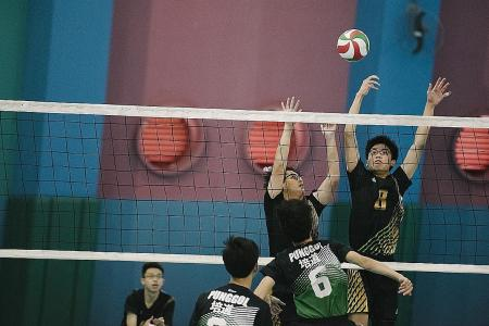 Catholic High beat Punggol to win North Zone B boy's volleyball title