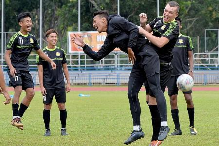 Hougang's new signing Mitter recalls Blackpool's tight-knit atmosphere