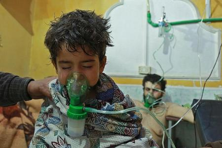 Syrian child killed in suspected chlorine gas attack
