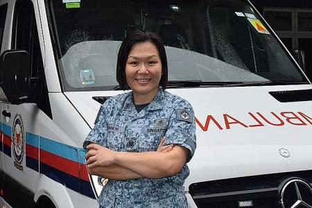 Military skills help her look after her four sons