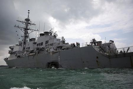 'Sudden turn' led to collision of US warship: Report