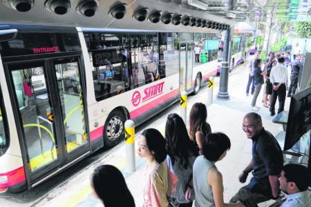 Cool new bus stop near Plaza Singapura