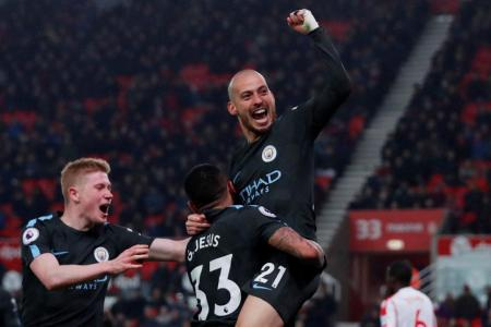 Man City two wins away from title