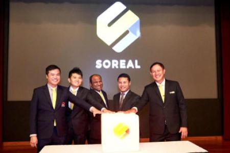 (From left to right) Mr Jack Chua, CEO/ERA, Mr Jeremiah Ng, CTO/SoReal, Mr Ismail Gafoor, CEO/PropNex, Mr Desmond Lee, Minister for Social and Family Development and Second Minister for National Development, and Mr Goh Kee Nguan, CEO/Huttons Asia at the l