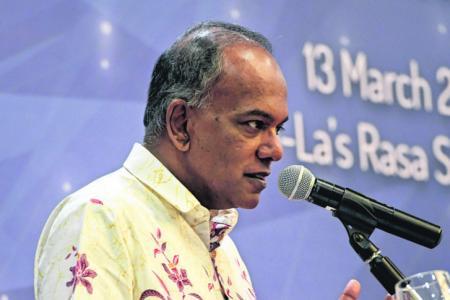 """Much harder to rehabilitate the """"self-radicalised"""": Shanmugam"""