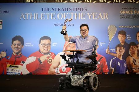 Chee and Hui are ST Athlete of the Year winners