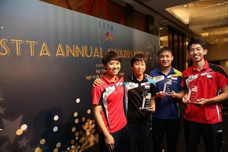 Awards for paddlers Pang and Koen