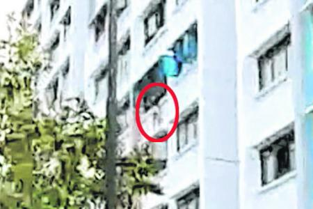 Woman, daughters pull disraught neighbour on window ledge to safety
