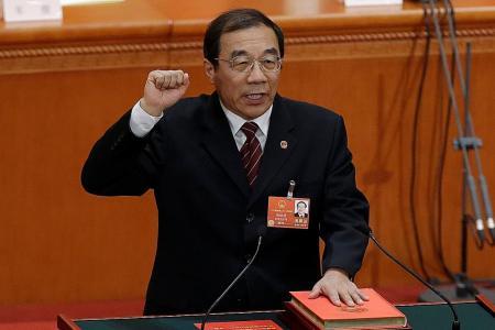 Senior graft-buster named head of China's anti-corruption body