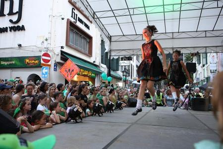 Circular Road transformed for St Patrick's Day revelry