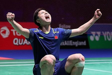 Shi denies Lin a seventh All England title
