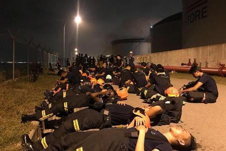 Six-hour fight to subdue oil storage tank blaze