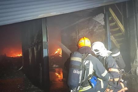Blaze in warehouse put out in eight hours