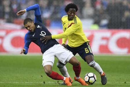 France lose to Colombia after wasting 2-0 lead