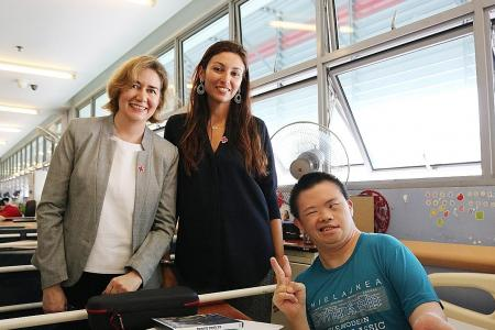 Wives of diplomats visit Red Cross Home for Disabled