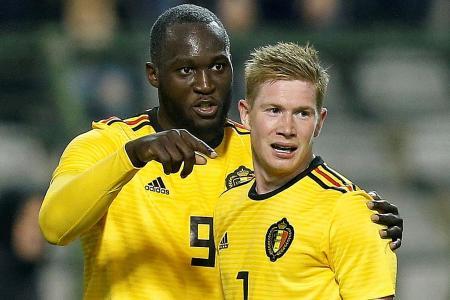 Lukaku scores twice in Belgium's win
