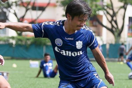 Albirex new attacker given 20-goal target