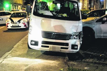 Van driver arrested for drink driving after knocking man down