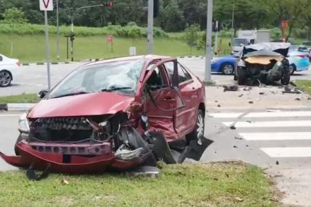 Four, including child, hurt in Mandai crash on Good Friday