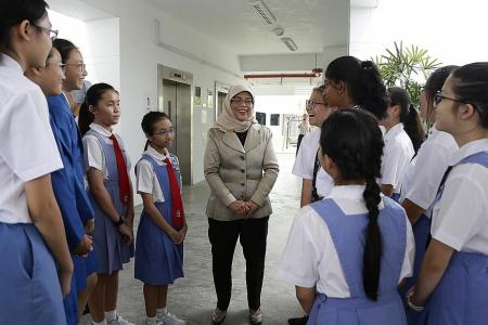 President Halimah inspires at leadership session for young girls
