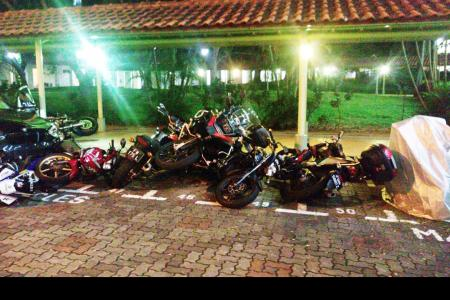 Car topples motorbikes in carpark, driver arrested for drink driving