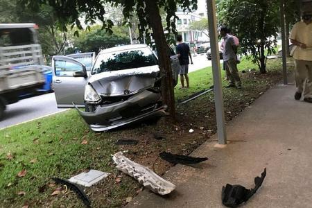 Woman, girl, 7, hurt in Sembawang crash