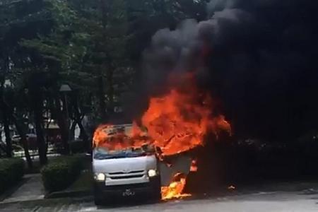 Three vehicles catch fire on Monday