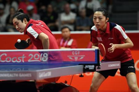 Women's table tennis pair clinch gold for Singapore
