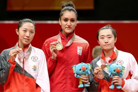 Feng falters in singles title defence