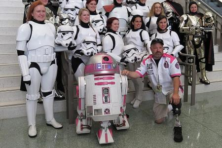 Pink droid R2-KT is not just a movie star but a beacon of hope