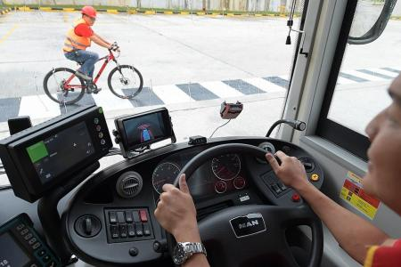 Camera sensors to help bus captains keep a look out