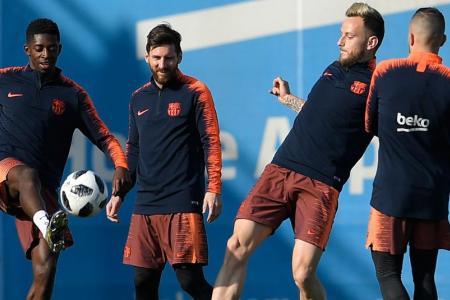 Barca taking no chances with Sevilla