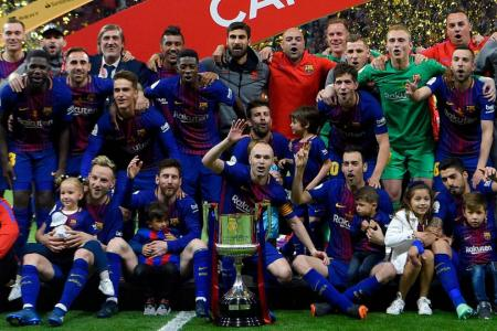 Sevilla 0 Barcelona 5: Suarez and Messi lead crushing Copa final win