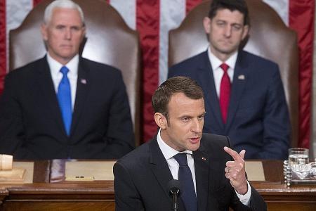 Trump, Macron 'bromance'' draws late night laughs in US
