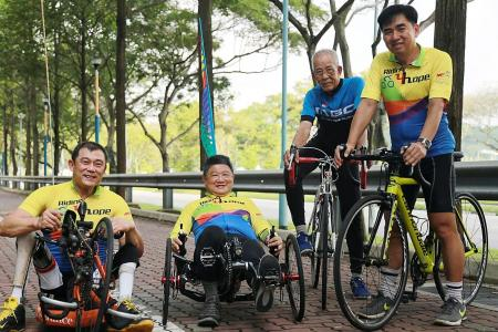 Four friends aim to cycle 1,600km to raise funds for NKF