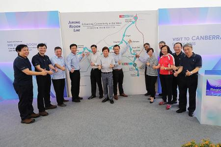 Jurong Region Line to open from 2026 in three phases