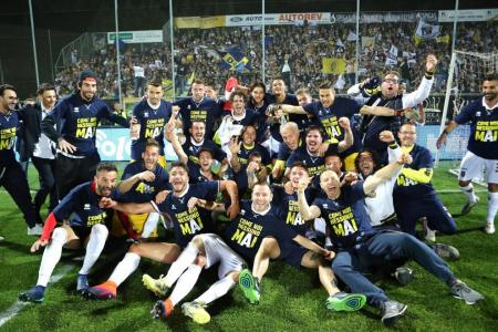 Parma back in Serie A after third straight promotion