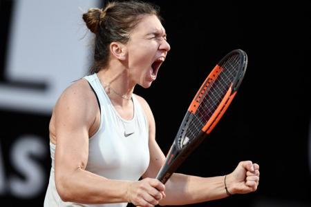 Halep sets up Rome rematch after sinking Sharapova