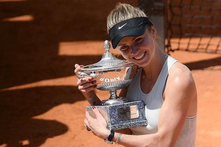 Svitolina whacks Halep to win third title of 2018