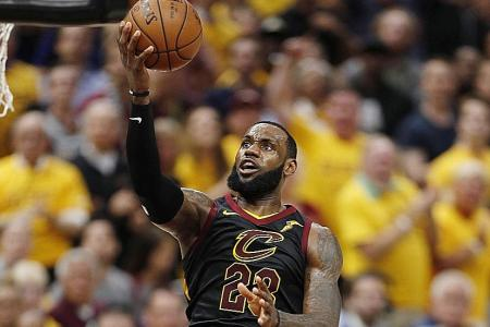 LeBron James scores 44 points as Cavs level series