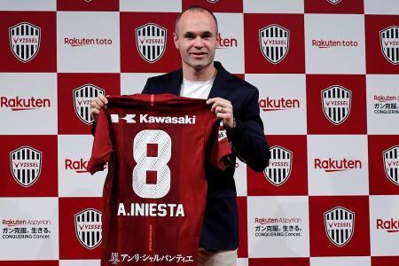 Barcelona legend Iniesta signs for J-League's Vissel